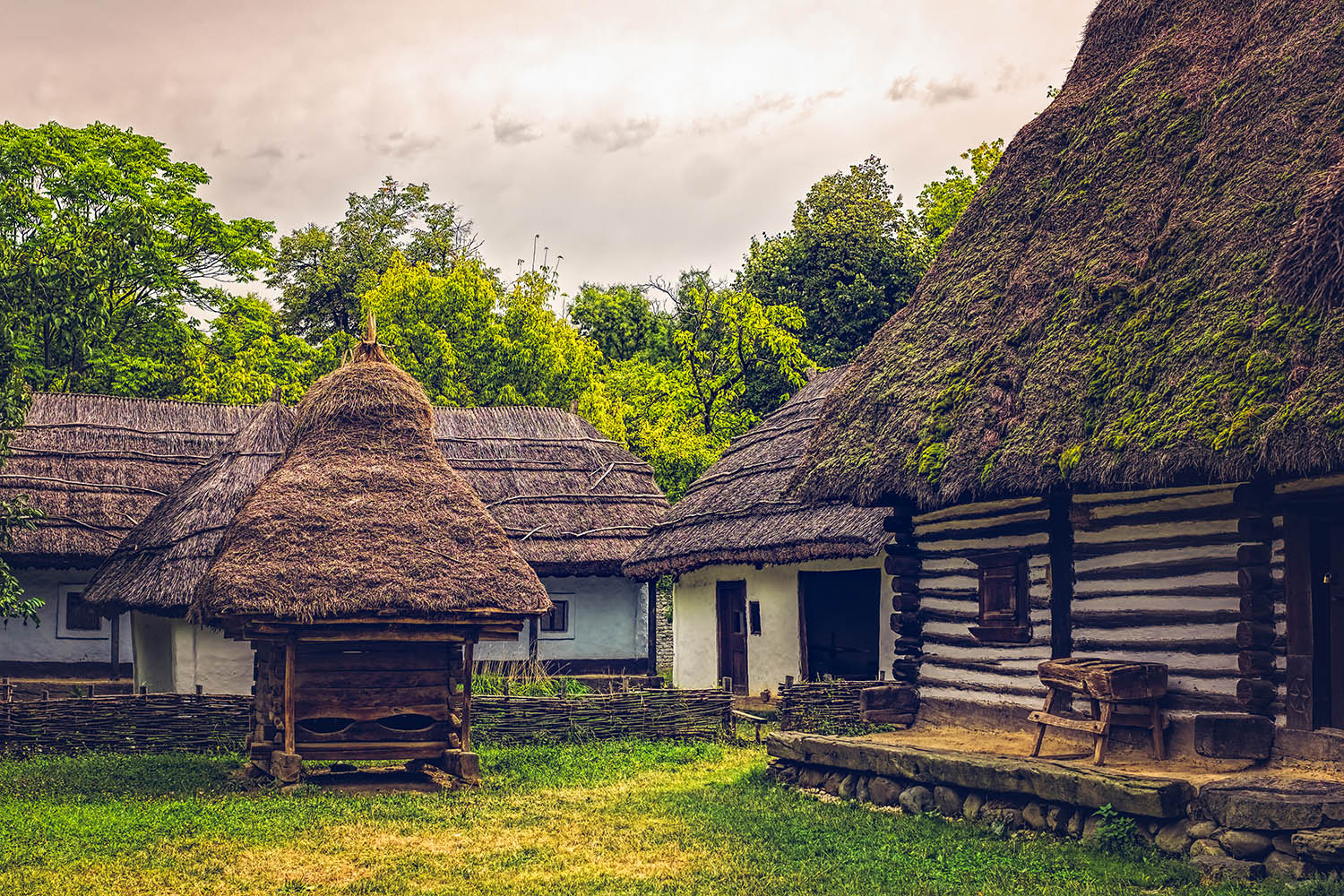 Romanian traditional village