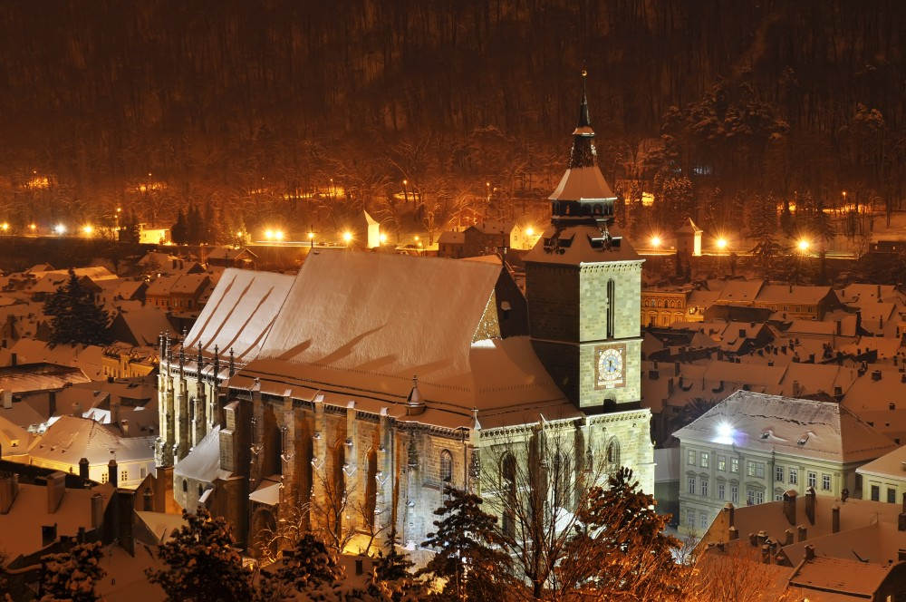 Brasov in the winter