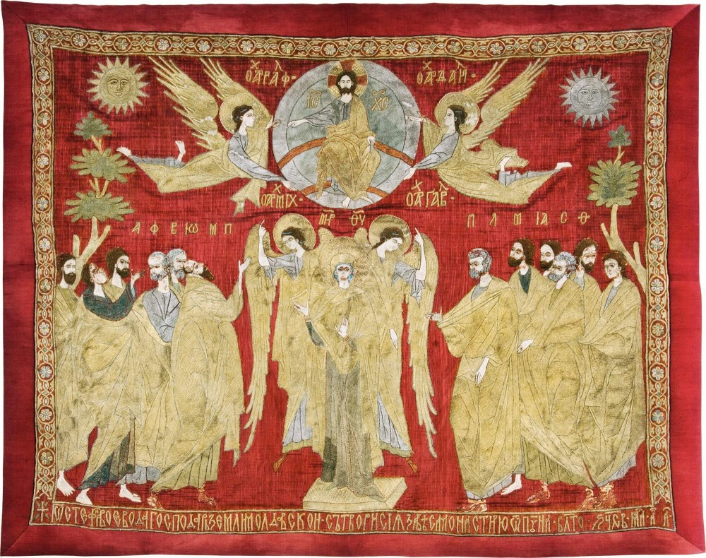 The altar door curtain of Ascension – Putna.ro