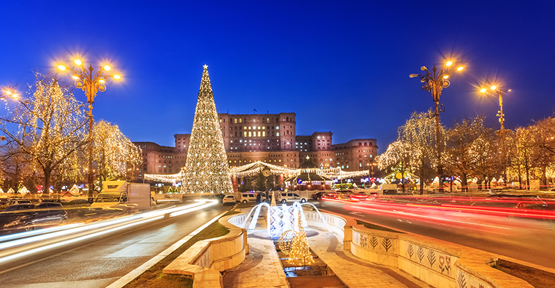 Christmas lights in Bucharest
