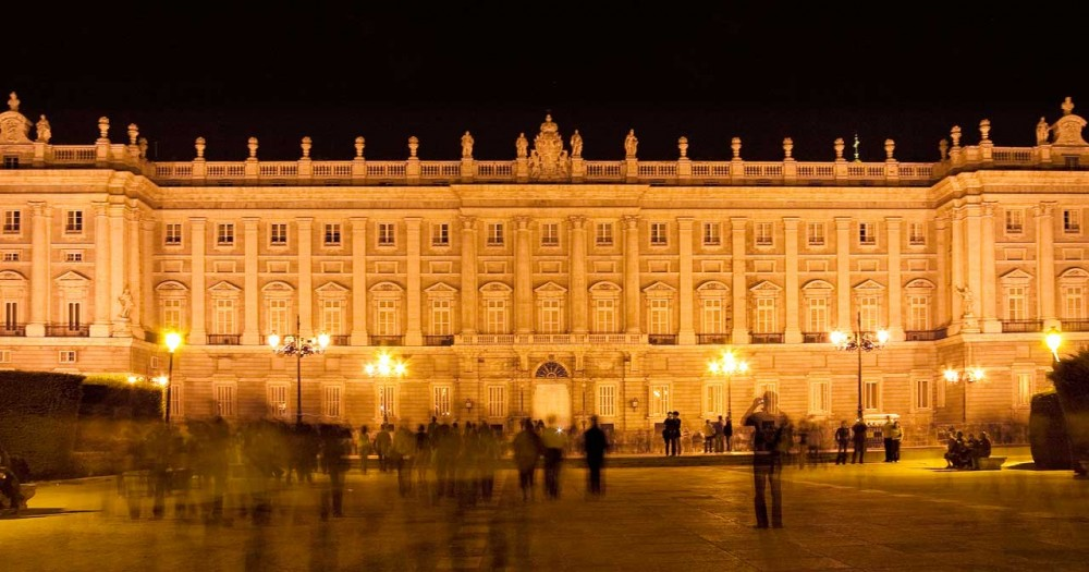 Madrid Royal Palace at night