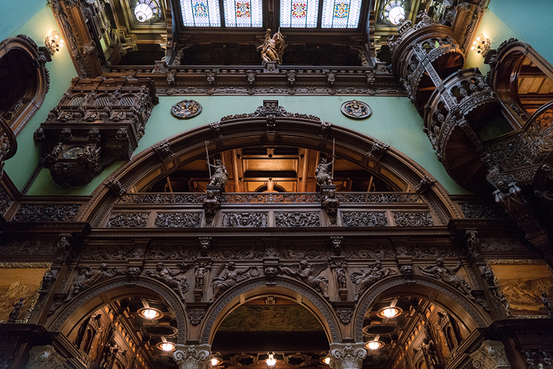 Inside Peles Castle, one of Romania's most iconic castles