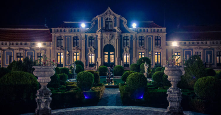 National Palace of Queluz at night