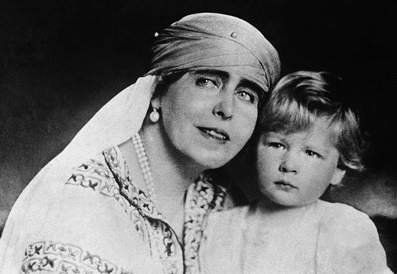 Queen Marie of Romania with her son Mircea