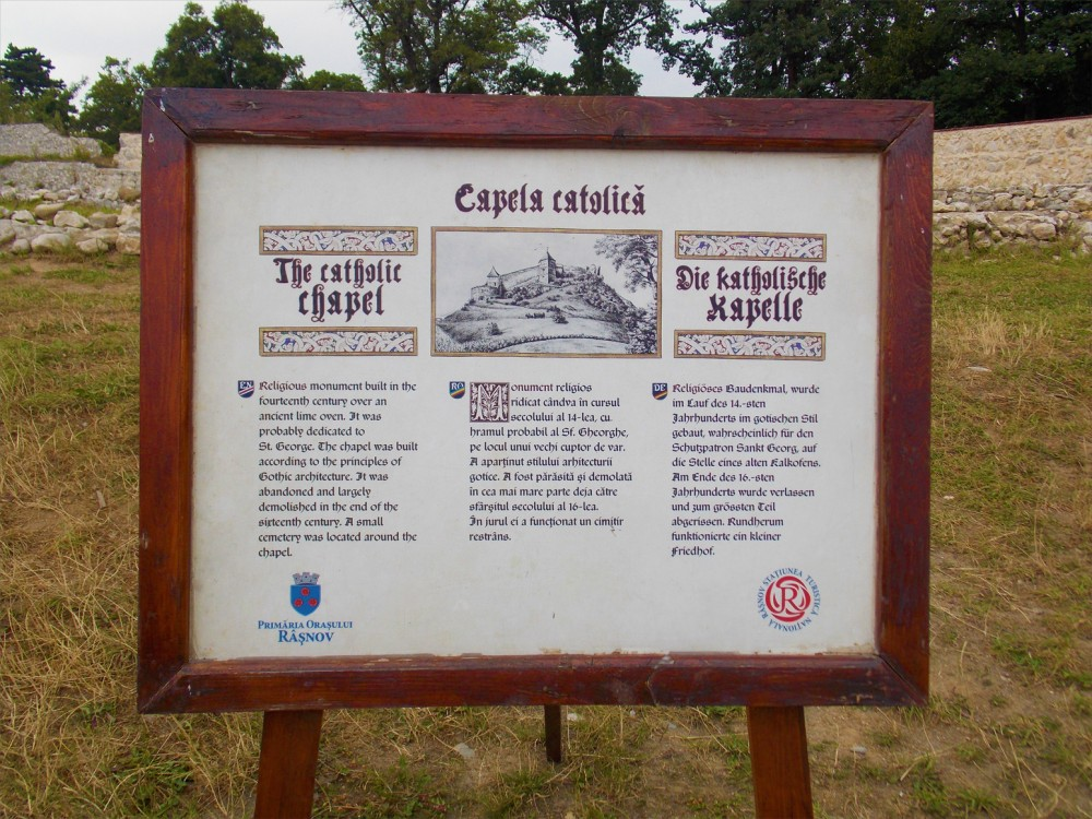 The catholic chapter of Rasnov Fortress