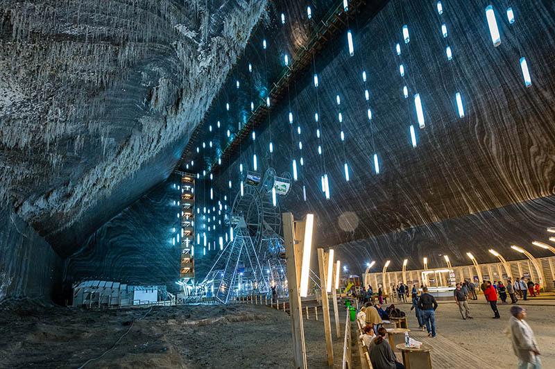 Turda Salt Mine | Step inside the UFO-shaped theme