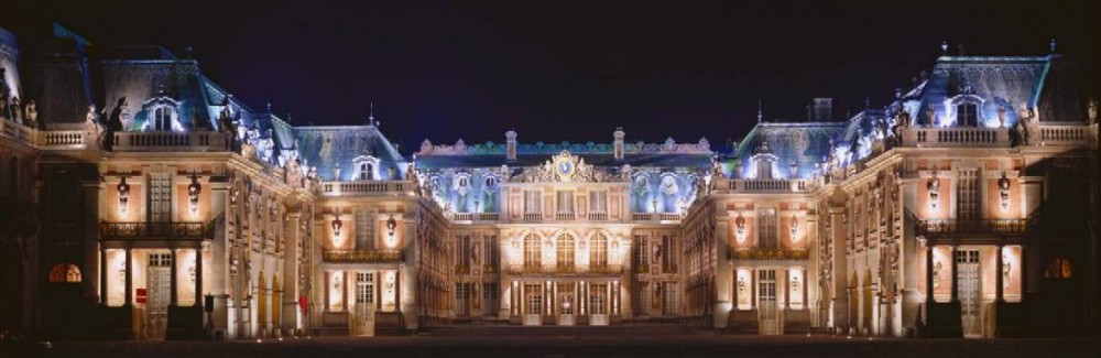 Palace of Versailles at night