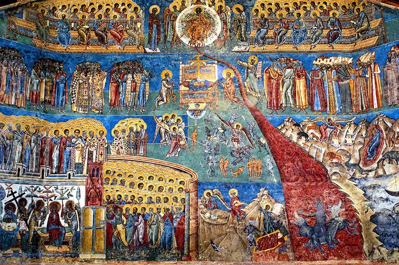 painted wall of voronet monastery