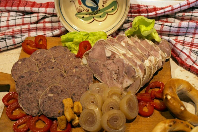 Romanian appetizers made from pork. Photo source: Eatermagazine