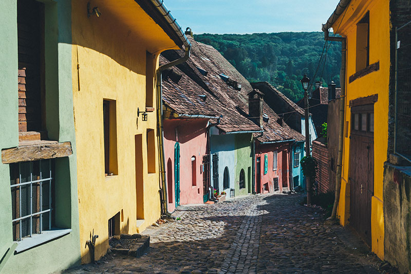 Colorful streets of Sighisoara