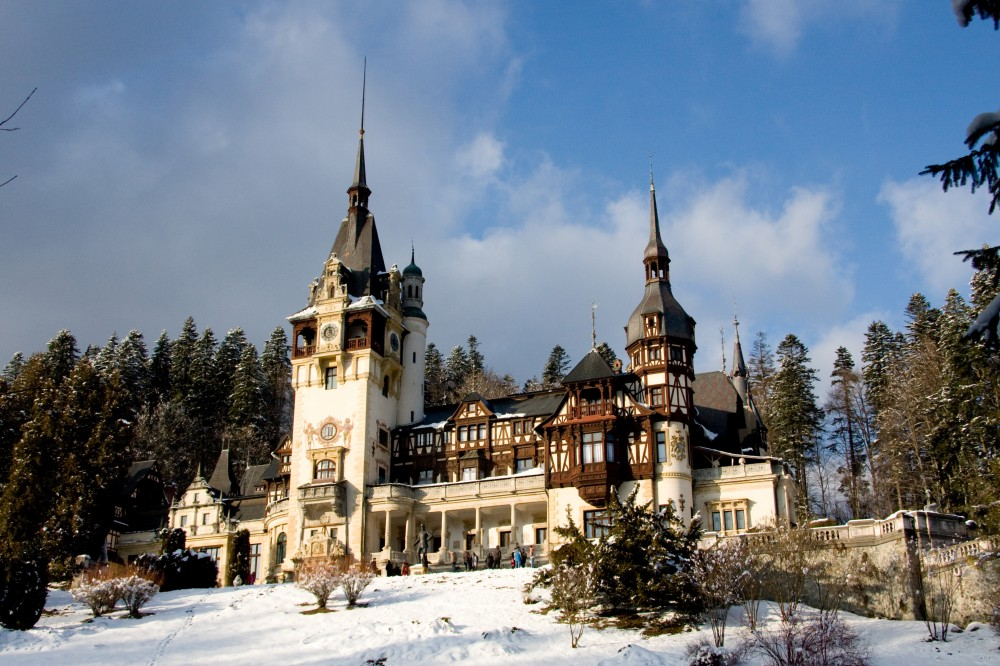 Peles Castle in the winter
